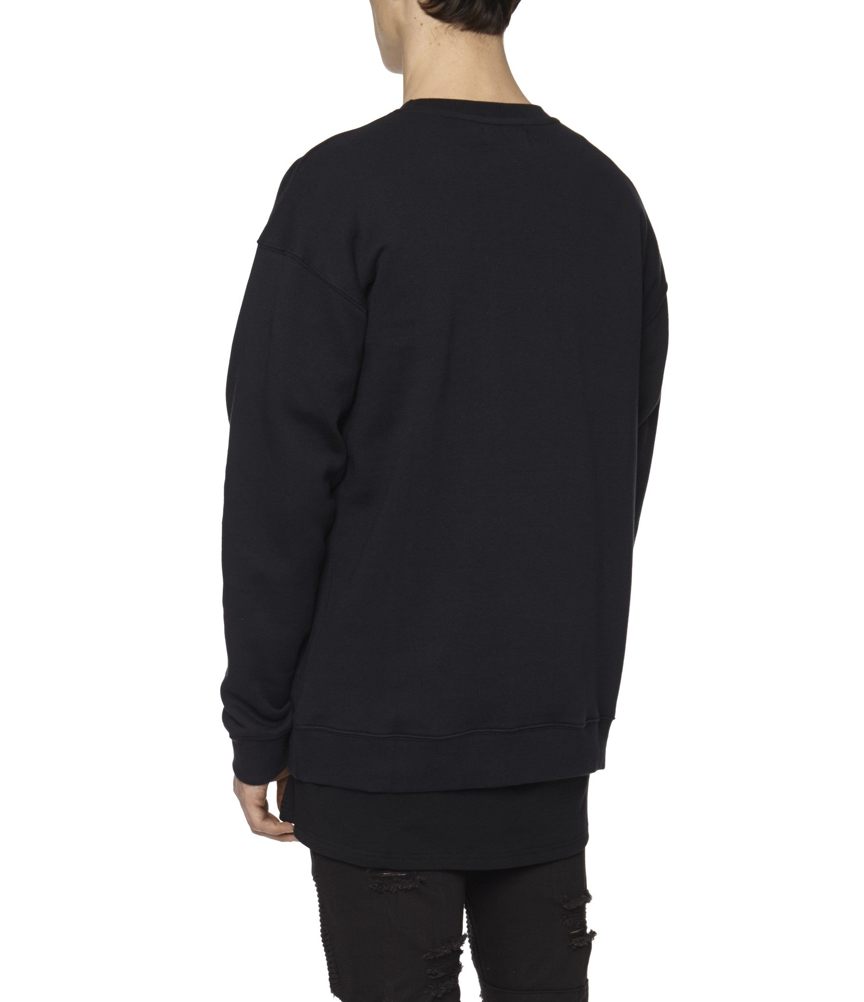 SW315 Circle Logo Printed Sweatshirt - Black - underated london - underatedco - 6