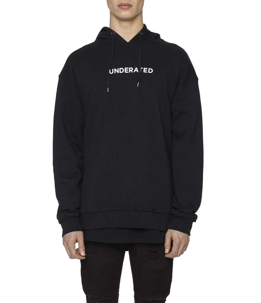 HD334 Printed Hoody - Black - underated london - underatedco - 6