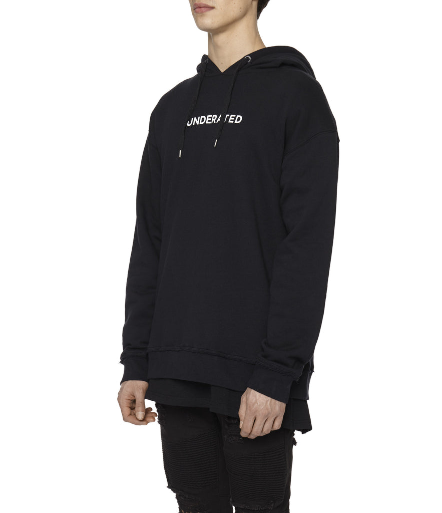 HD334 Printed Hoody - Black - underated london - underatedco - 7
