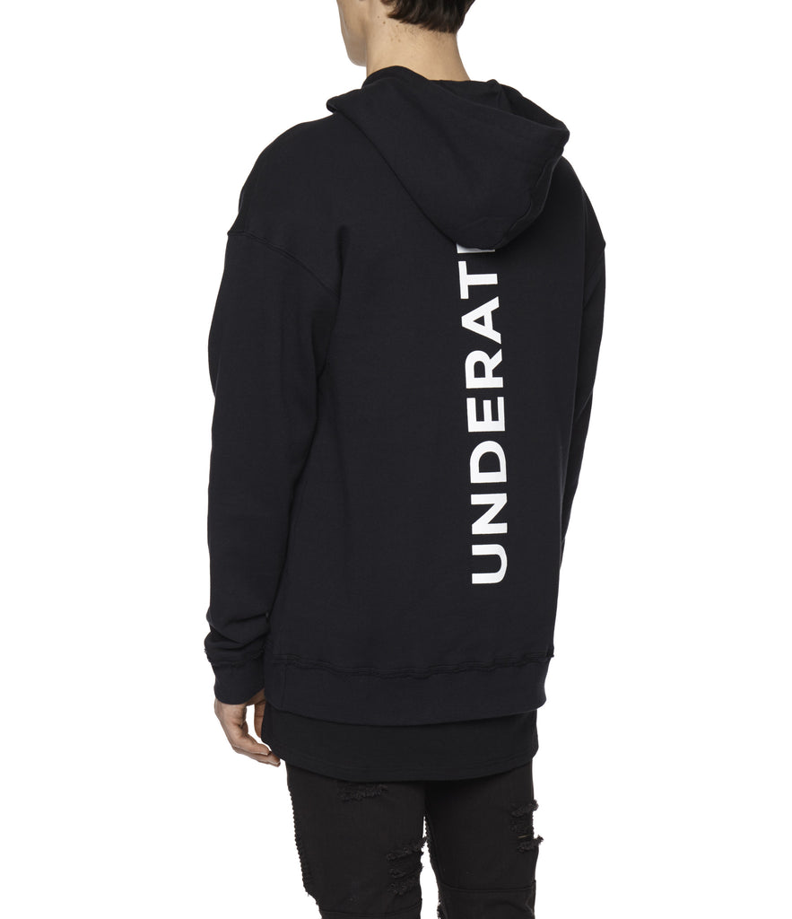 HD334 Printed Hoody - Black - underated london - underatedco - 8