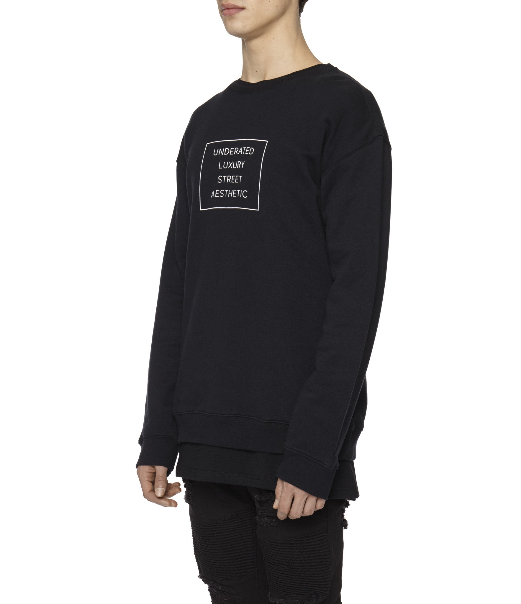 SW314 Box Logo Printed Sweatshirt - Black - underated london - underatedco - 5