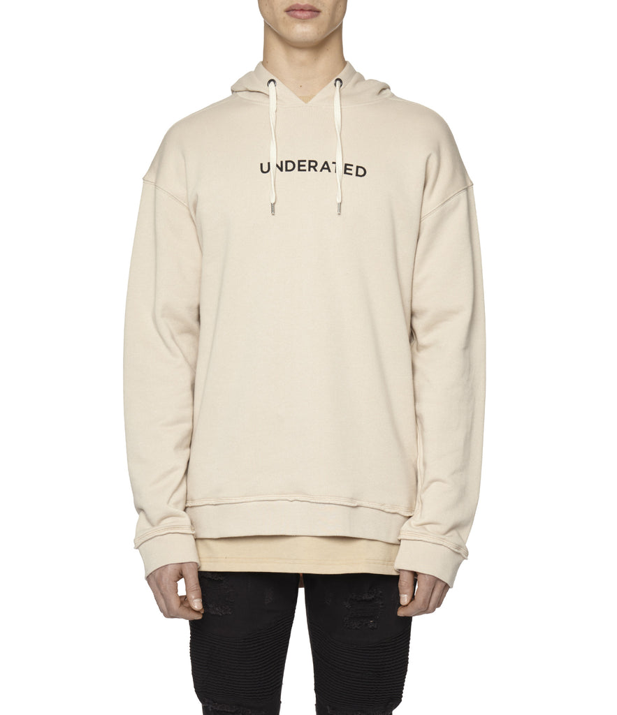 HD334 Printed Hoody - Nude - underated london - underatedco - 5