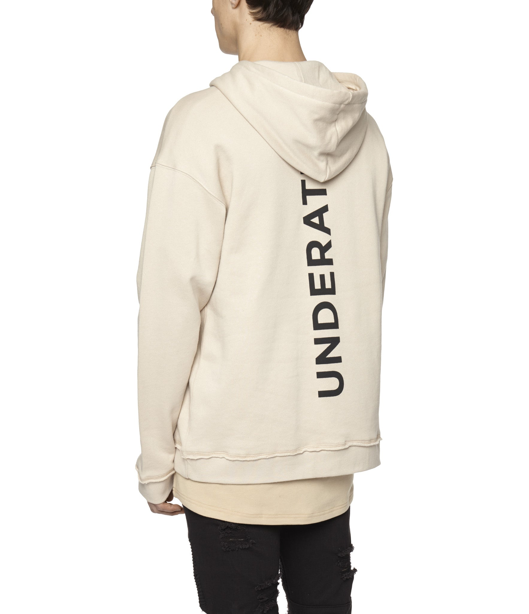 HD334 Printed Hoody - Nude - underated london - underatedco - 7