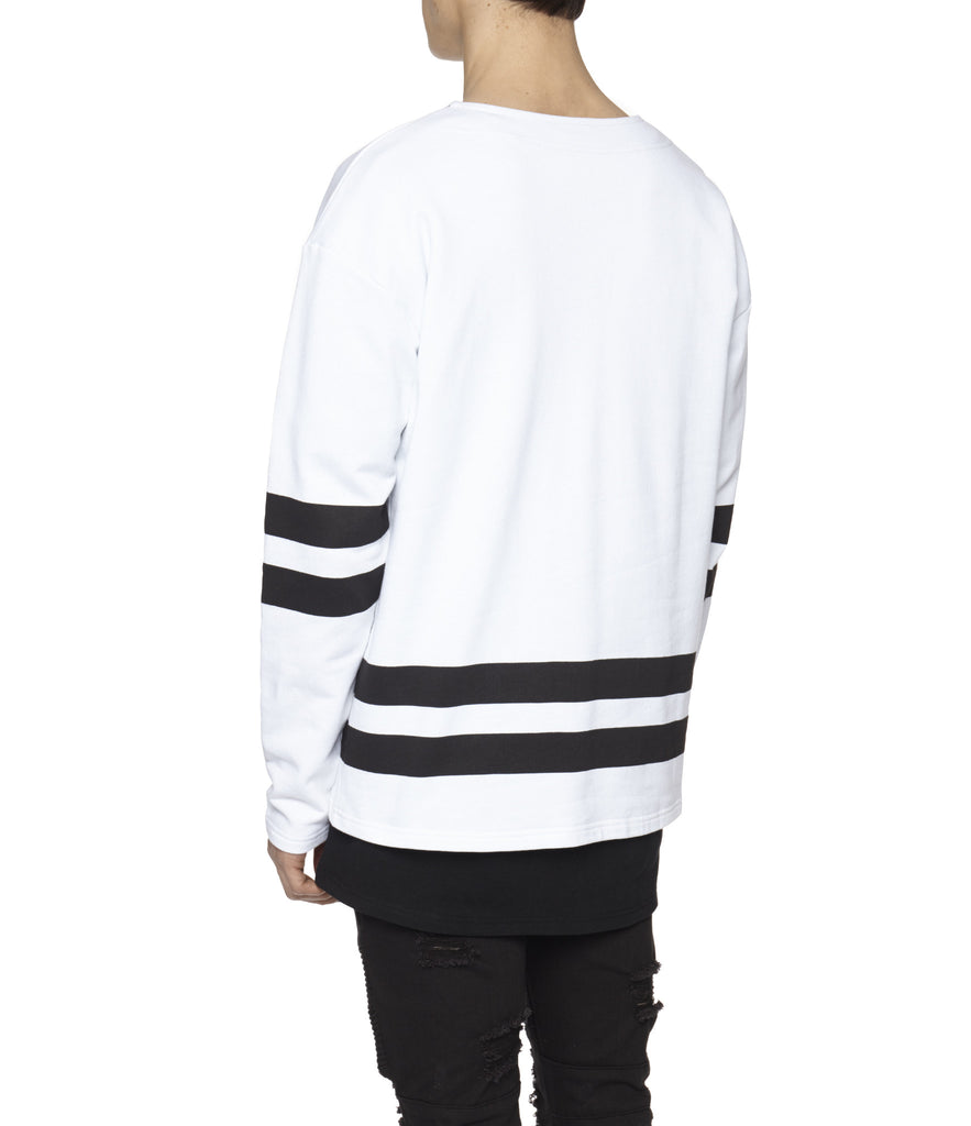 SW313 No.1 Printed Sweatshirt - White - underated london - underatedco - 7