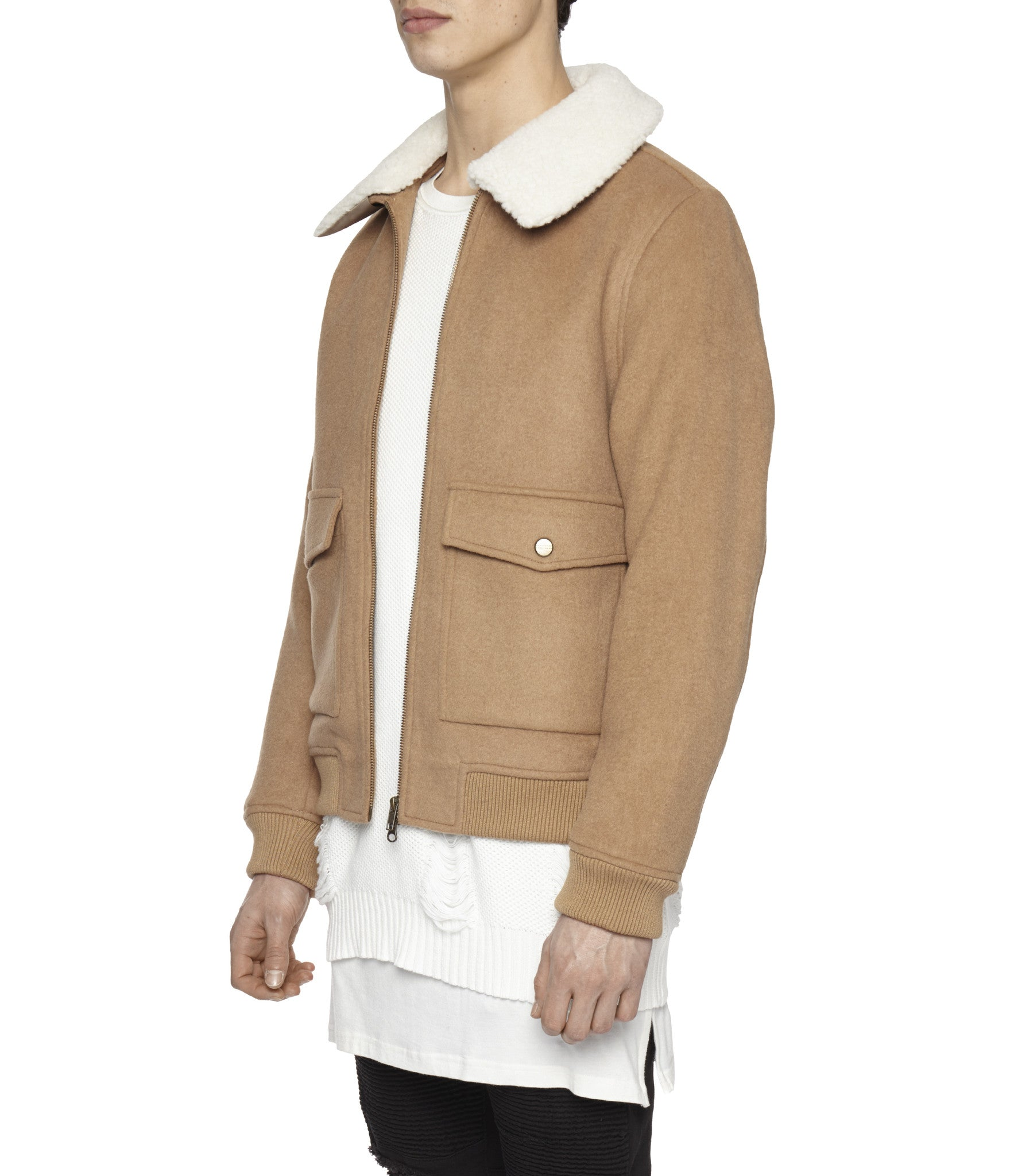 BM20 Shearling-Trimmed Wool Jacket - Camel - underated london - underatedco - 5