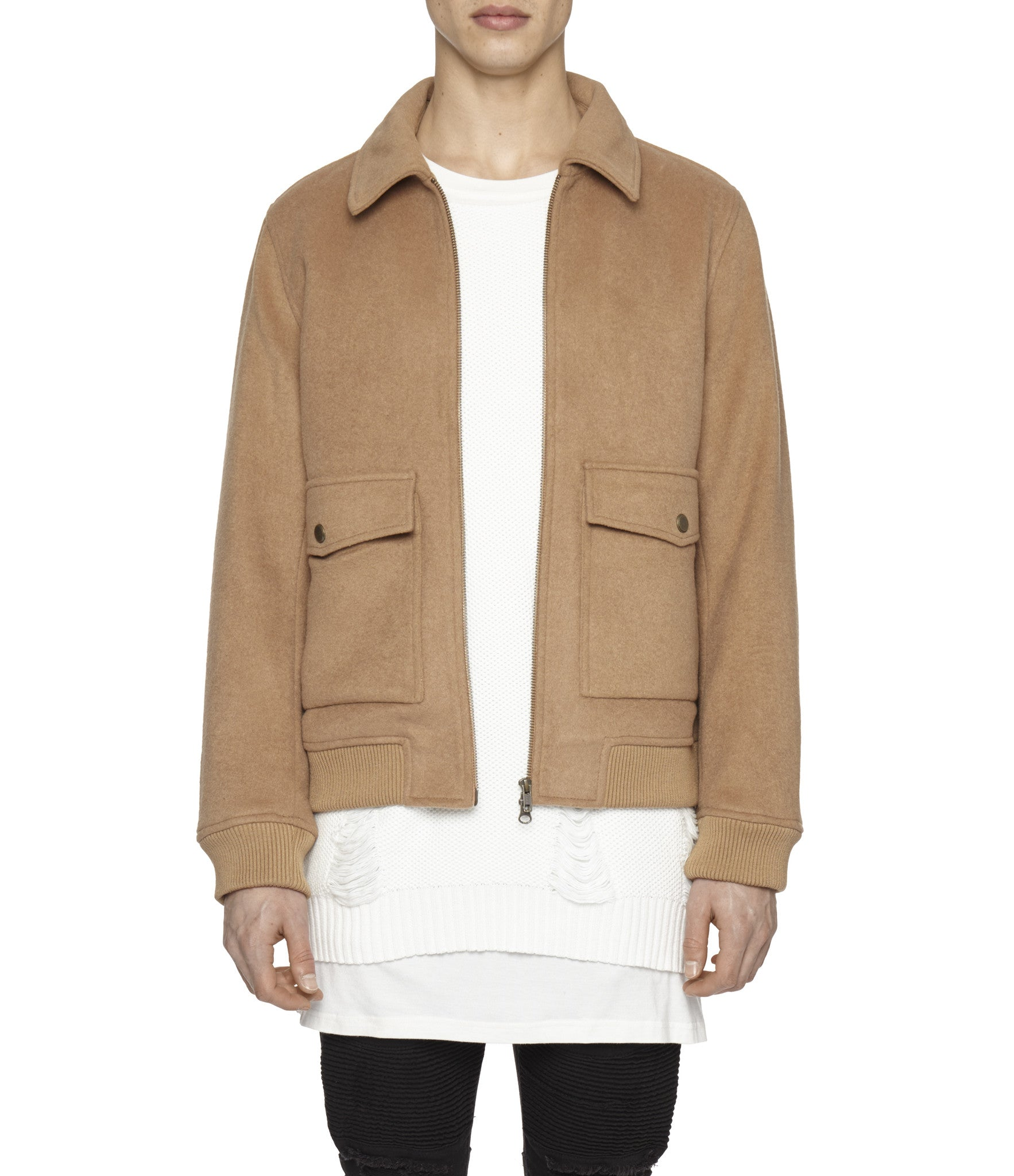 BM20 Shearling-Trimmed Wool Jacket - Camel - underated london - underatedco - 7