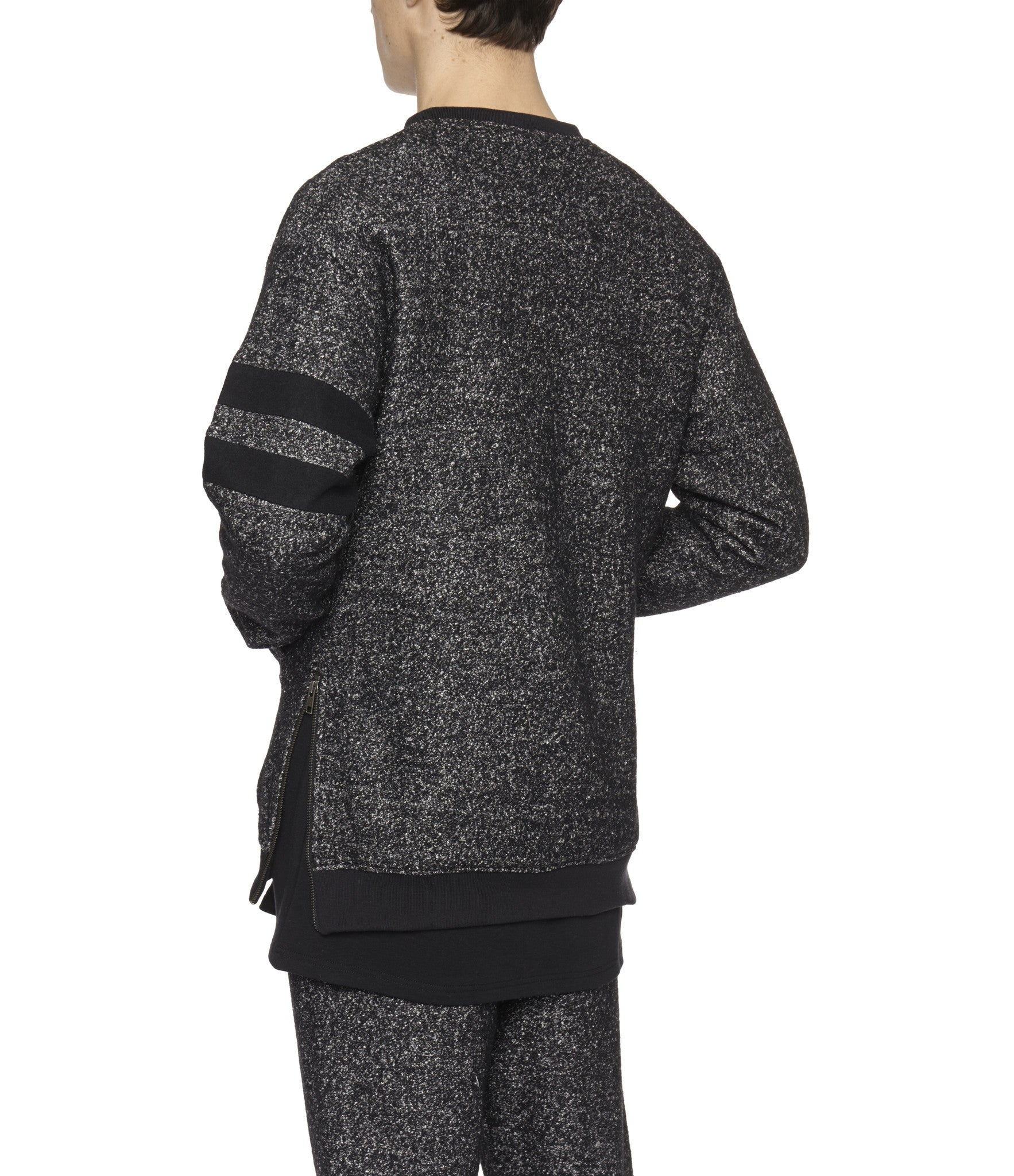 SW301 Oversized Mélange Wool Sweatshirt - Black - underated london - underatedco - 7