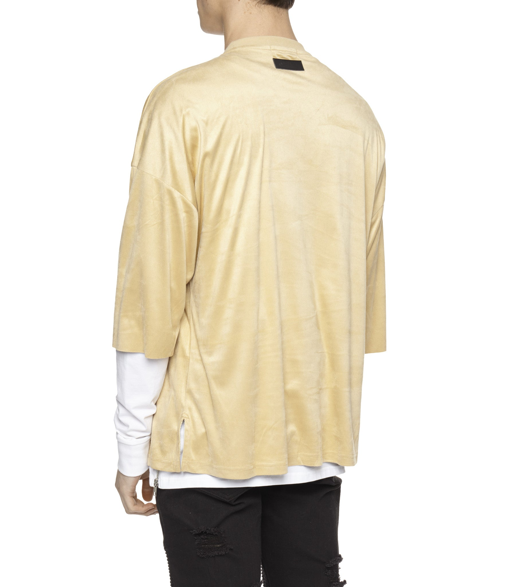 TS302 Suede Oversized Box Tee - Beige - underated london - underatedco - 5