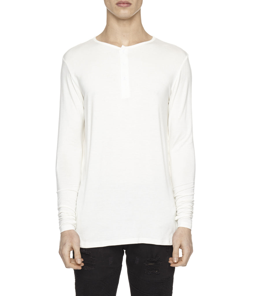 LS264 Under Layer Henley Tee - White - UNDERATED