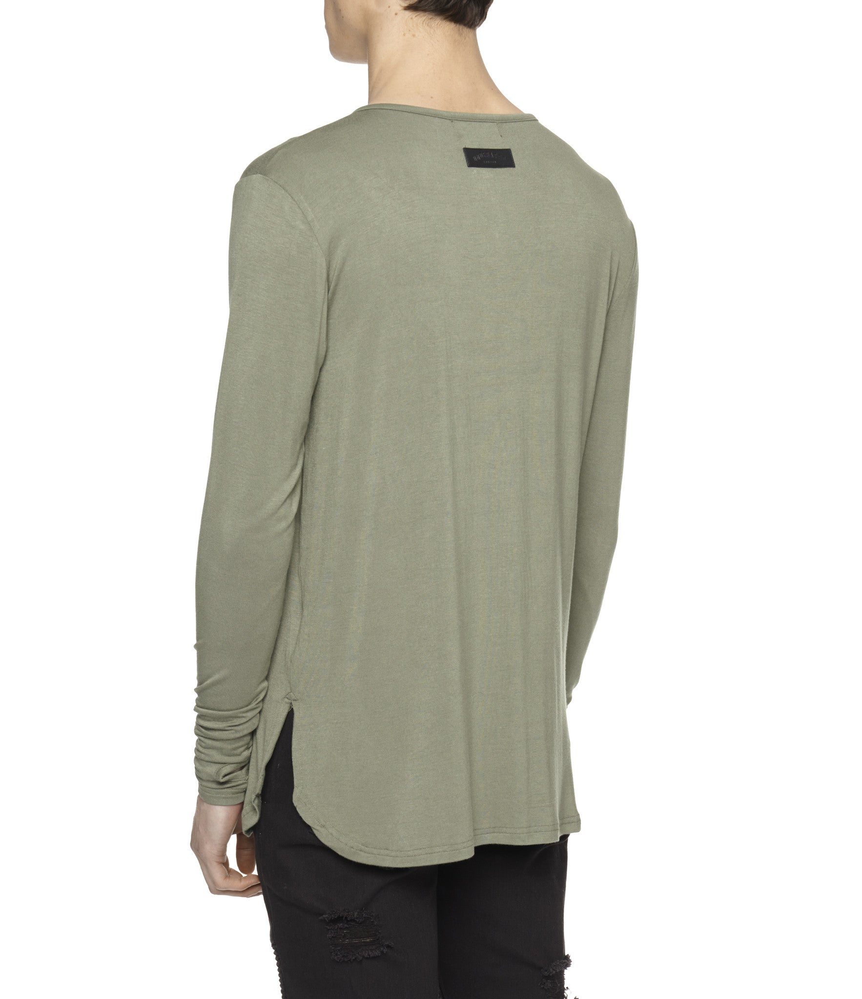 LS264 Under Layer Henley Tee - Khaki - underated london - underatedco - 5