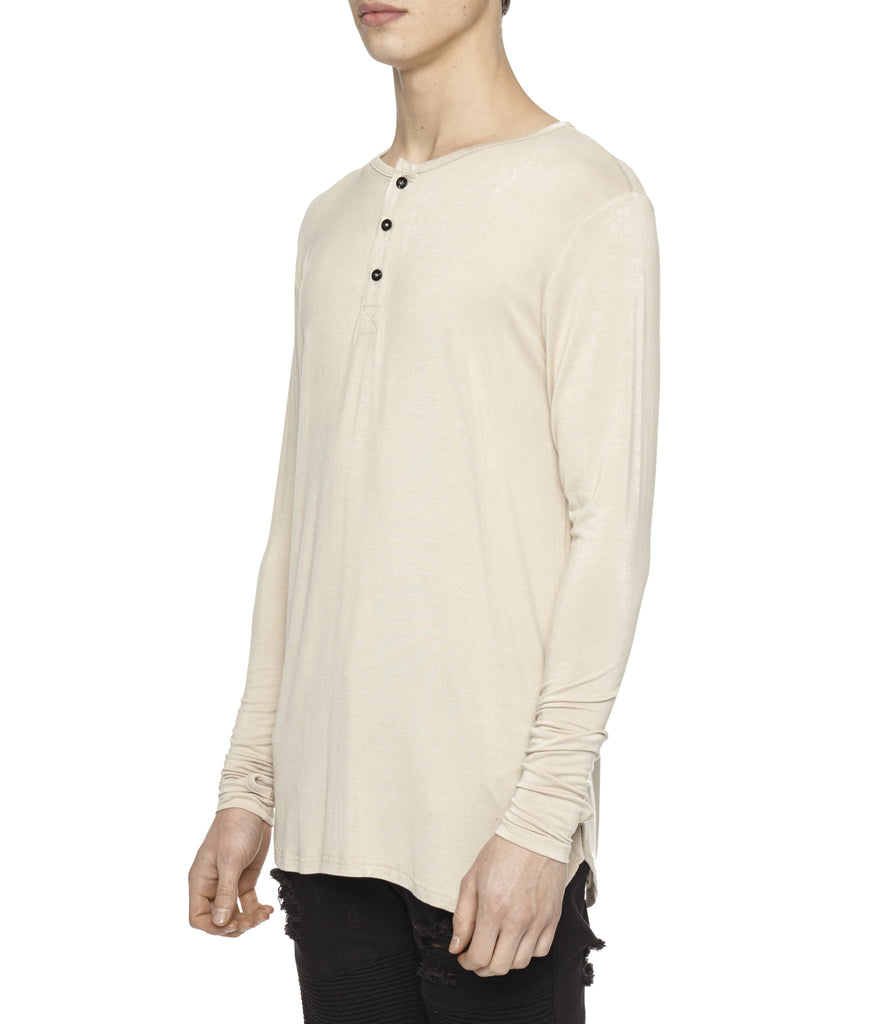 LS264 Under Layer Henley Tee - Nude - UNDERATED