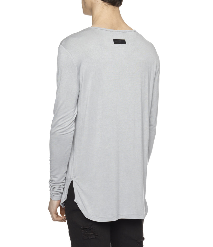 LS264 Under Layer Henley Tee - Ash Grey - UNDERATED