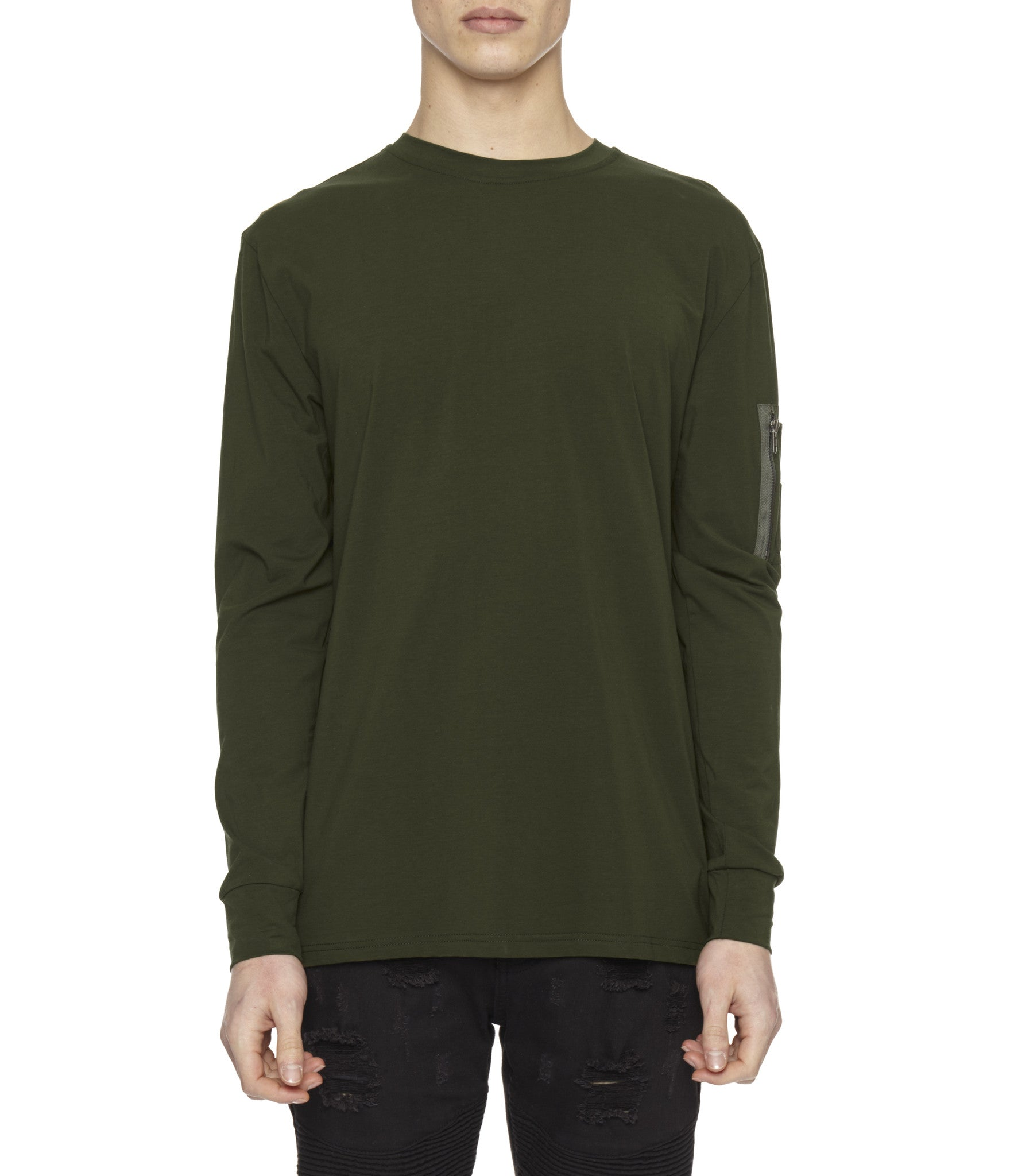 LS303 Utility Long-Sleeve Tee - Olive Green - underated london - underatedco - 4