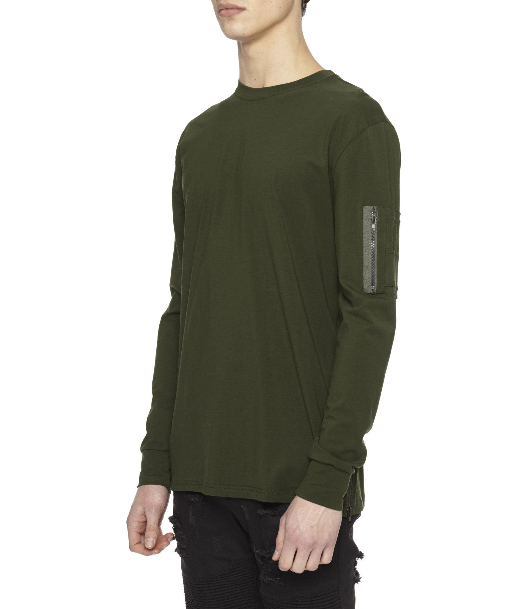 LS303 Utility Long-Sleeve Tee - Olive Green - underated london - underatedco - 5