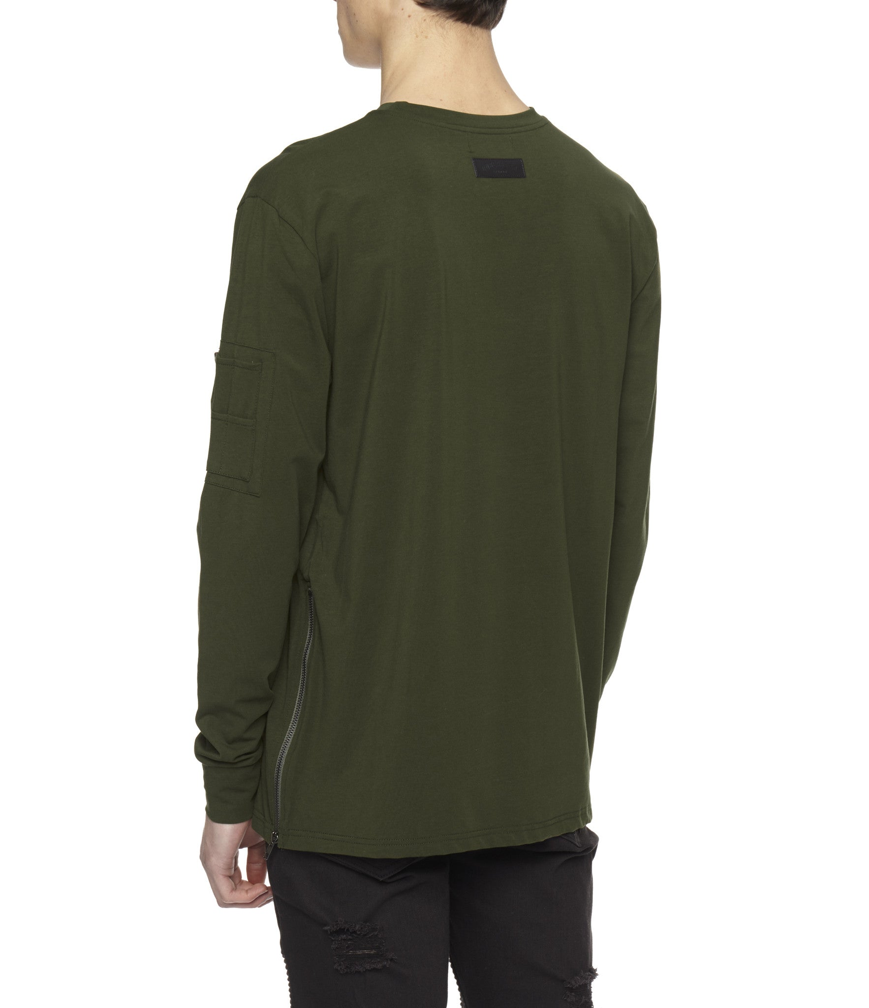 LS303 Utility Long-Sleeve Tee - Olive Green - underated london - underatedco - 6