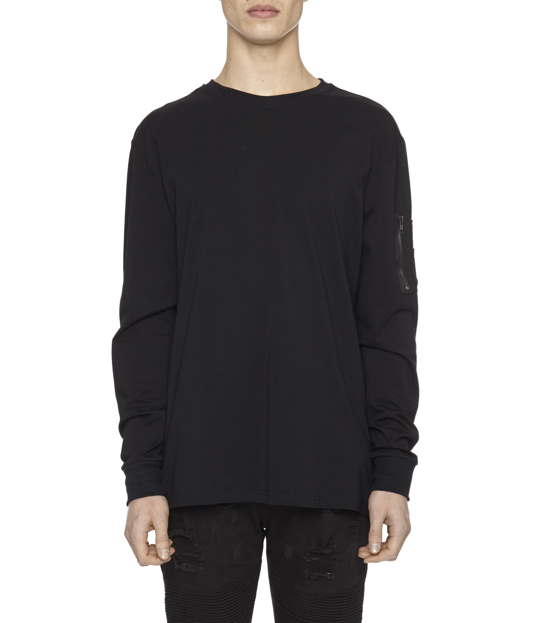 LS303 Utility Long-Sleeve Tee - Black - underated london - underatedco - 4