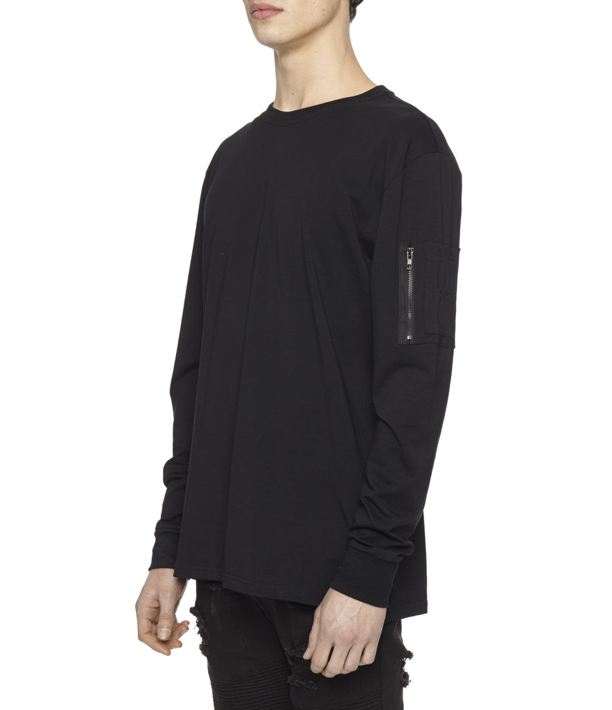 LS303 Utility Long-Sleeve Tee - Black - underated london - underatedco - 5