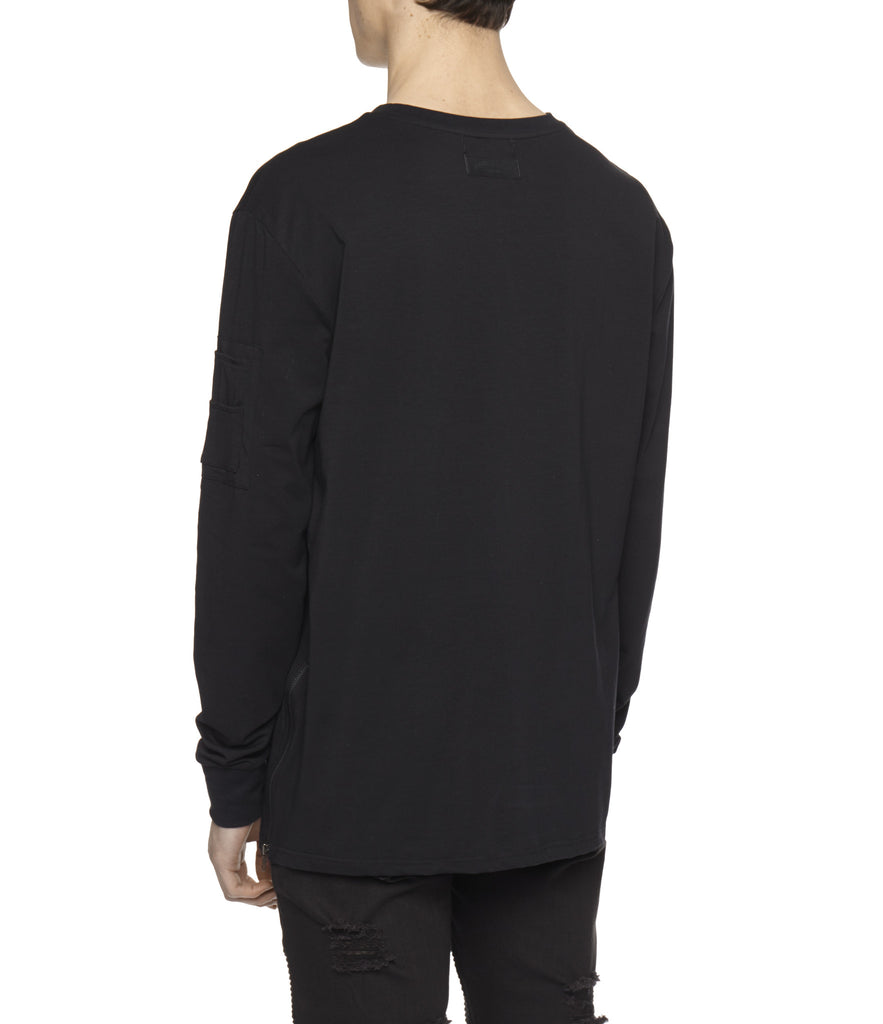 LS303 Utility Long-Sleeve Tee - Black - underated london - underatedco - 6