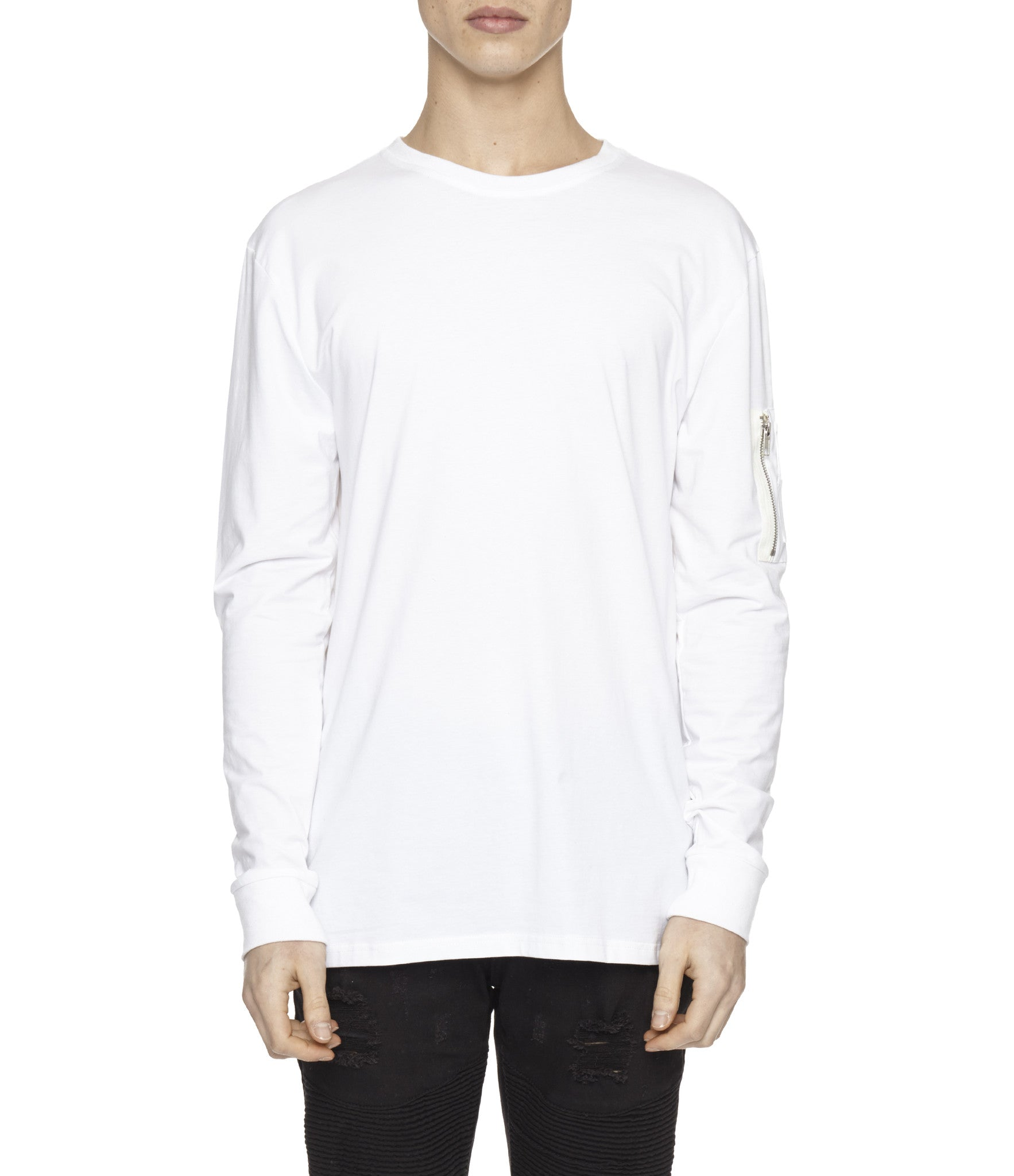 LS303 Utility Long-Sleeve Tee - White - underated london - underatedco - 4
