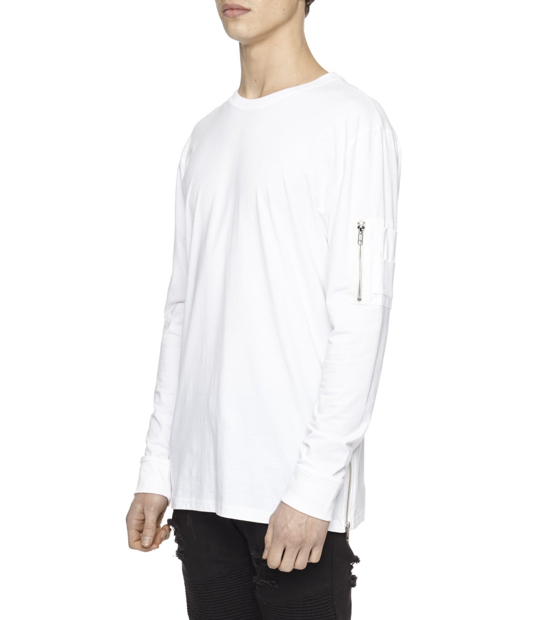LS303 Utility Long-Sleeve Tee - White - underated london - underatedco - 5