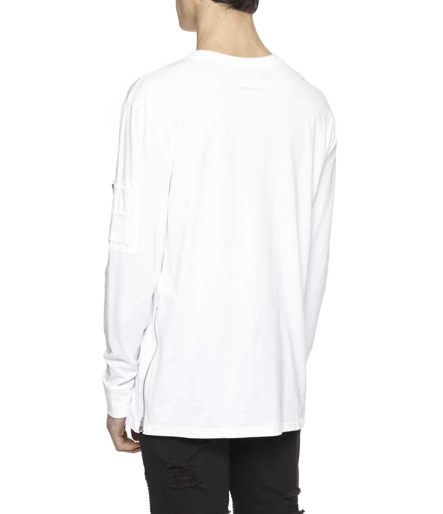 LS303 Utility Long-Sleeve Tee - White - underated london - underatedco - 6