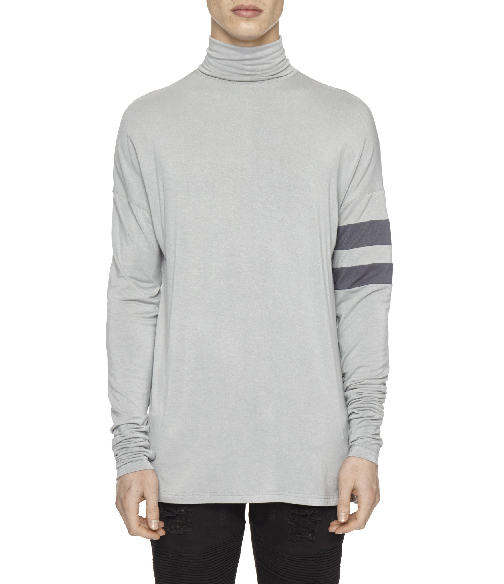 LS105 Roll Neck Under Layer L/S Tee - Ash Grey - underated london - underatedco - 3
