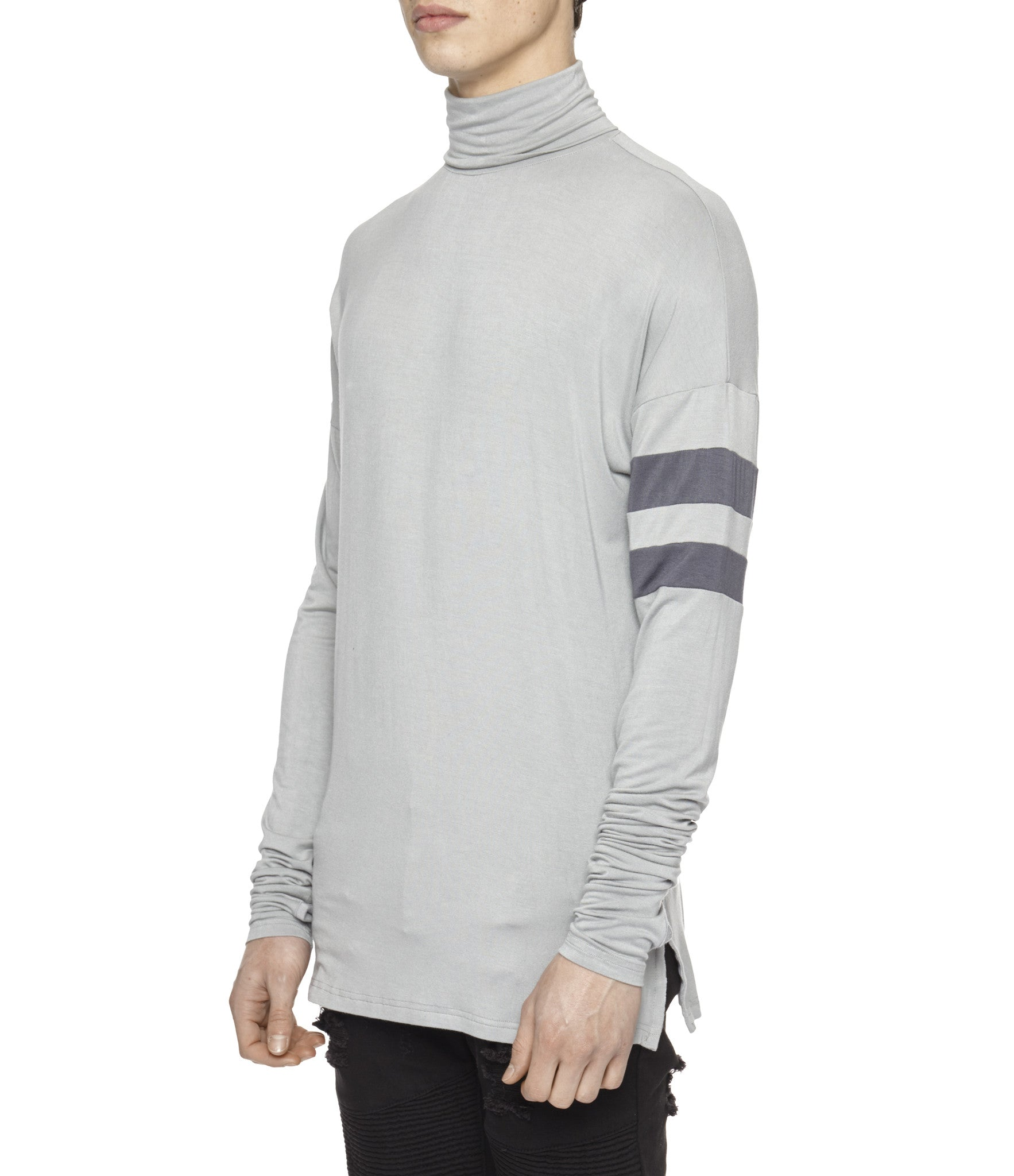LS105 Roll Neck Under Layer L/S Tee - Ash Grey - underated london - underatedco - 4