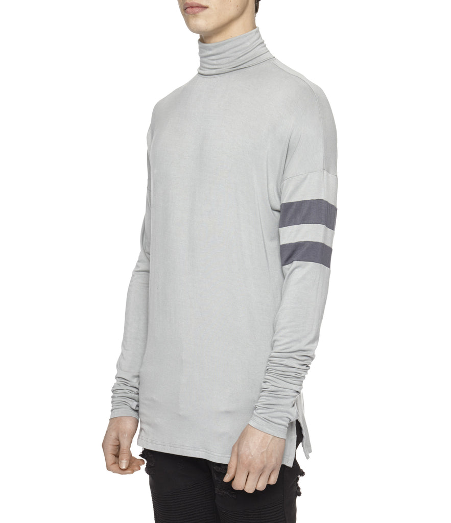 LS105 Roll Neck Under Layer L/S Tee - Ash Grey - UNDERATED