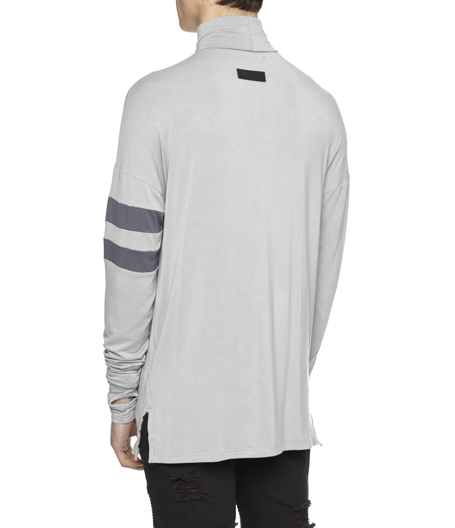 LS105 Roll Neck Under Layer L/S Tee - Ash Grey - underated london - underatedco - 5