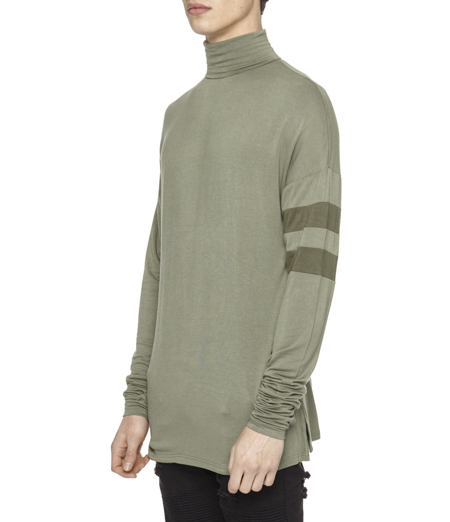 LS105 Roll Neck Under Layer L/S Tee - Khaki - UNDERATED