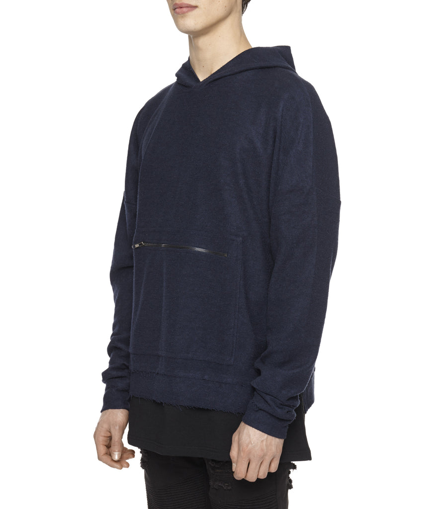HD310 Oversized Inside Out Hoody - Navy - underated london - underatedco - 5
