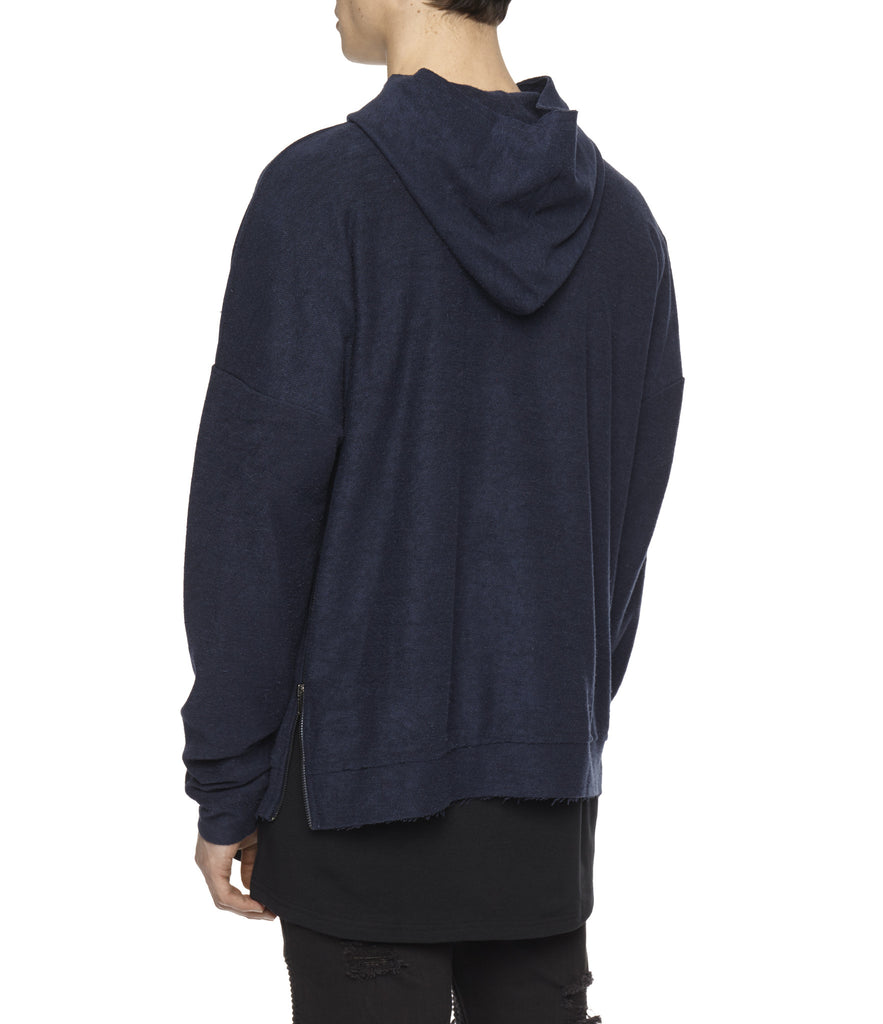 HD310 Oversized Inside Out Hoody - Navy - underated london - underatedco - 6