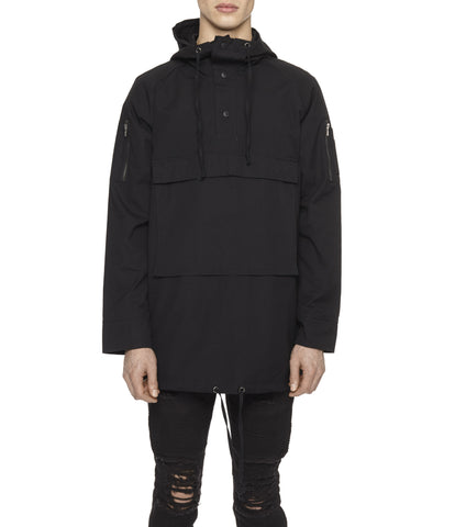 D22 Hooded Pullover Anorak - Black - underated london - underatedco - 1