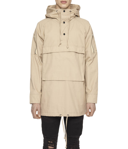 D22 Hooded Pullover Anorak  - Beige - underated london - underatedco - 1