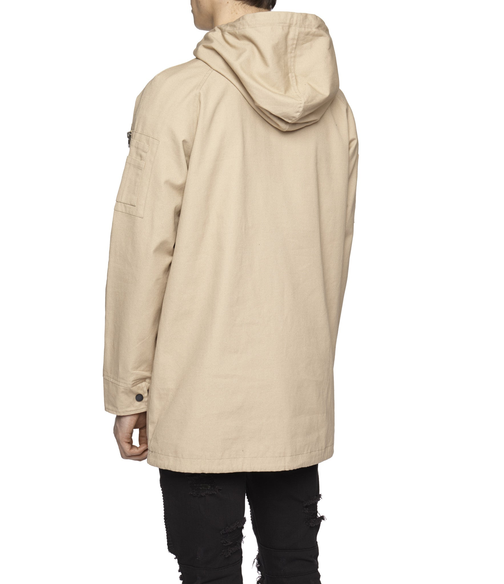 D22 Hooded Pullover Anorak  - Beige - underated london - underatedco - 5
