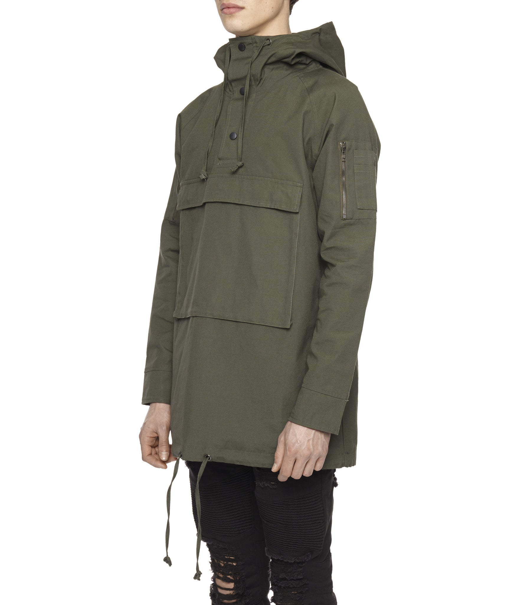 D22 Hooded Pullover Anorak - Military Green - underated london - underatedco - 4