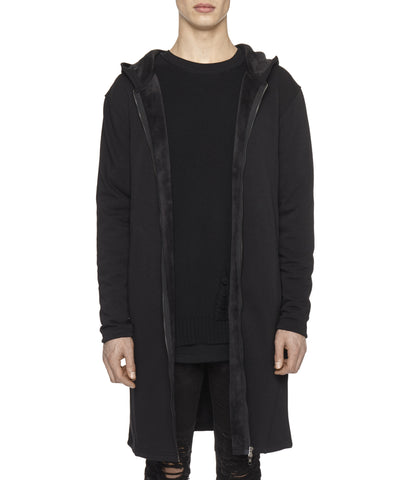 HD146 Elongated Fur Lined Hoody - underated london - underatedco - 1