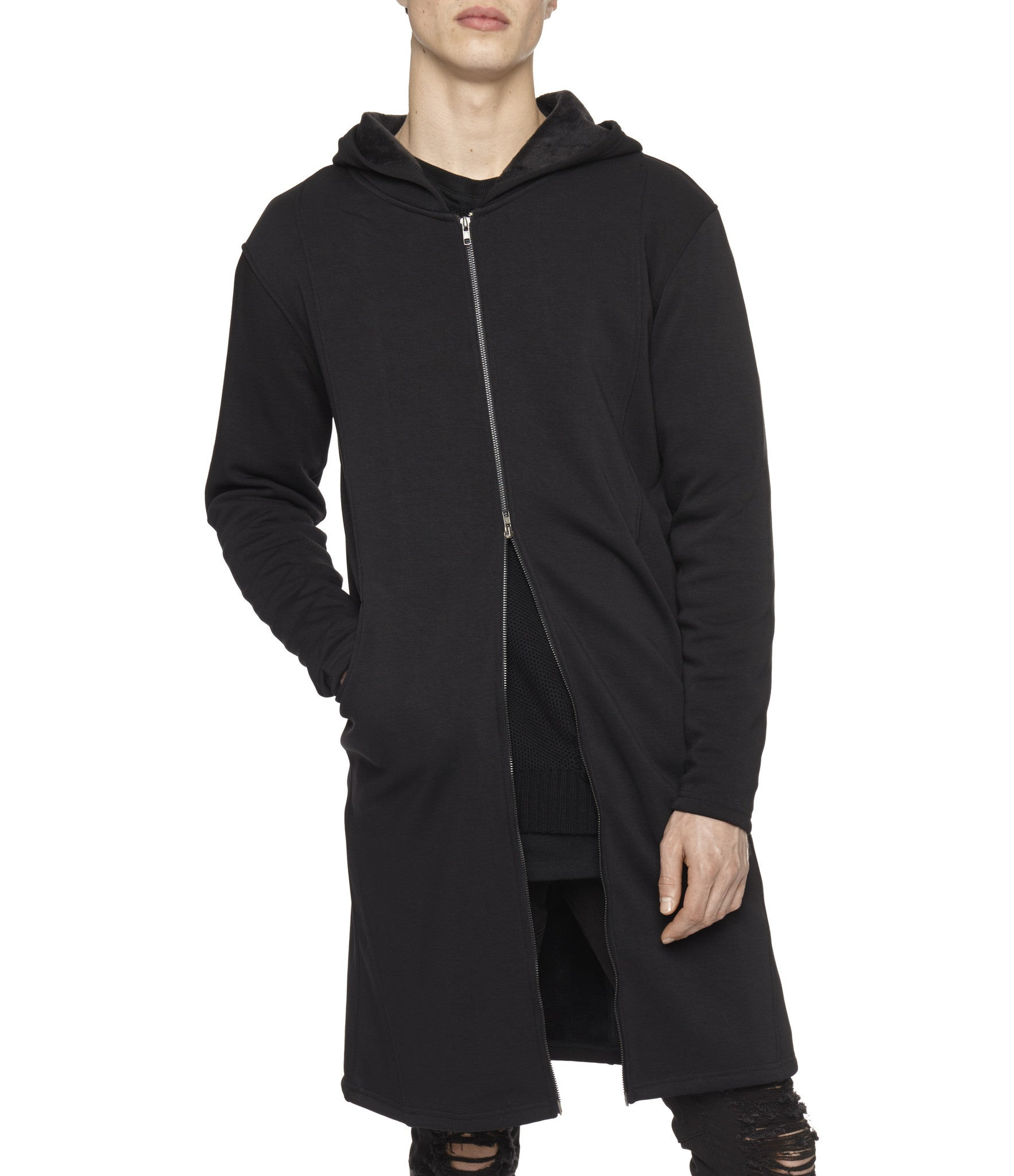 HD146 Elongated Fur Lined Hoody - underated london - underatedco - 7
