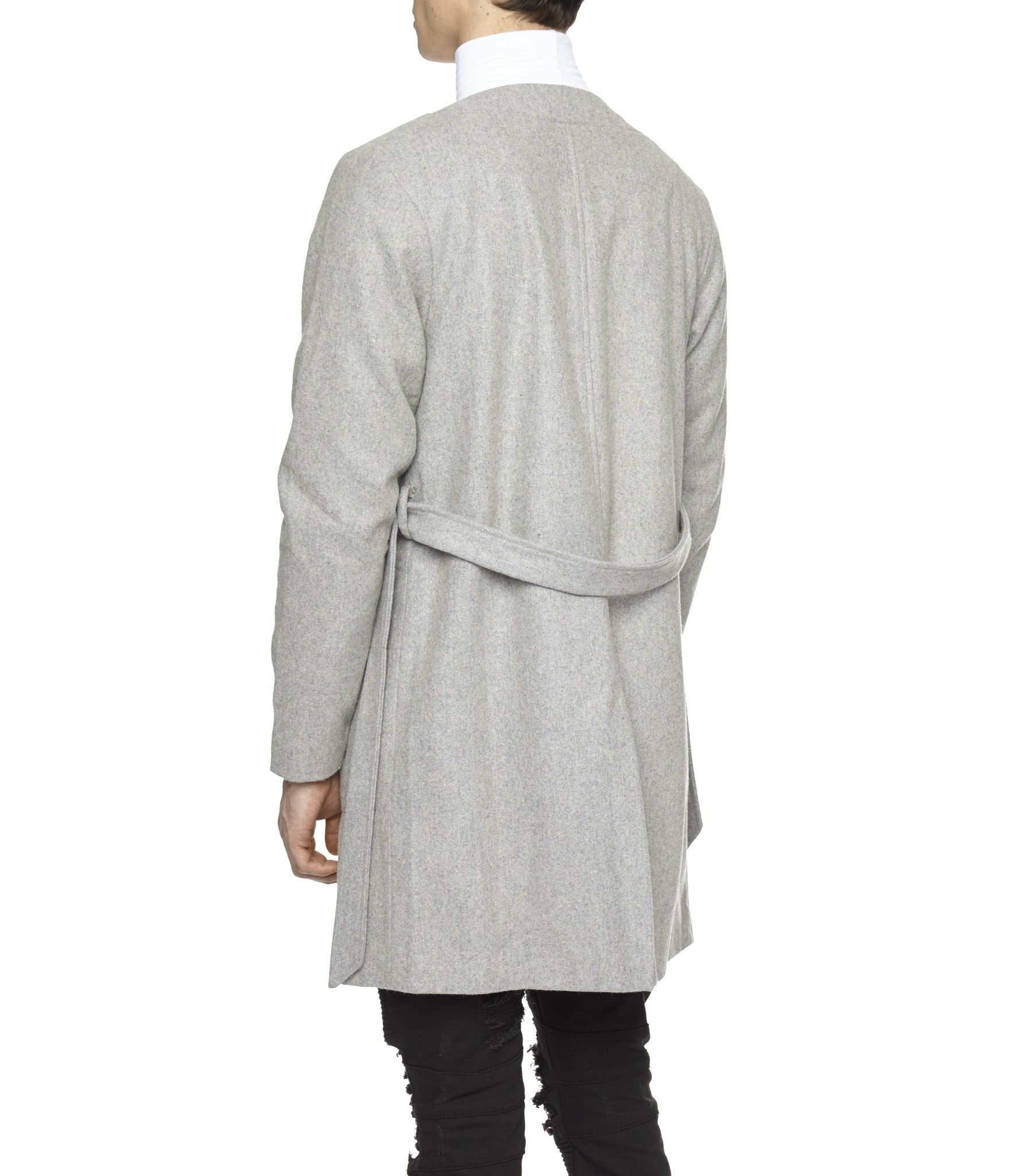 KM070 Wool Blend Kimono Coat - Grey - underated london - underatedco - 5