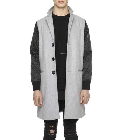 JK215 Hybrid Overcoat - Grey - UNDERATED