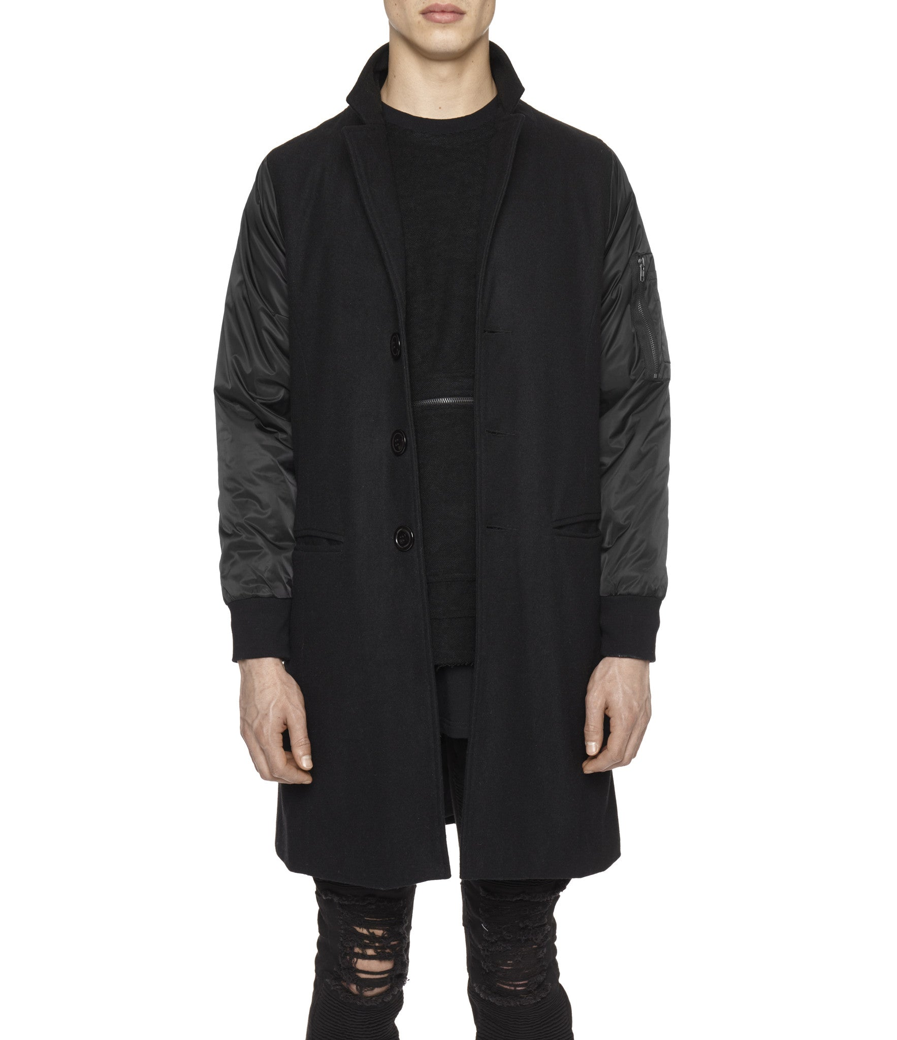 JK215 Hybrid Overcoat - Black - underated london - underatedco - 1