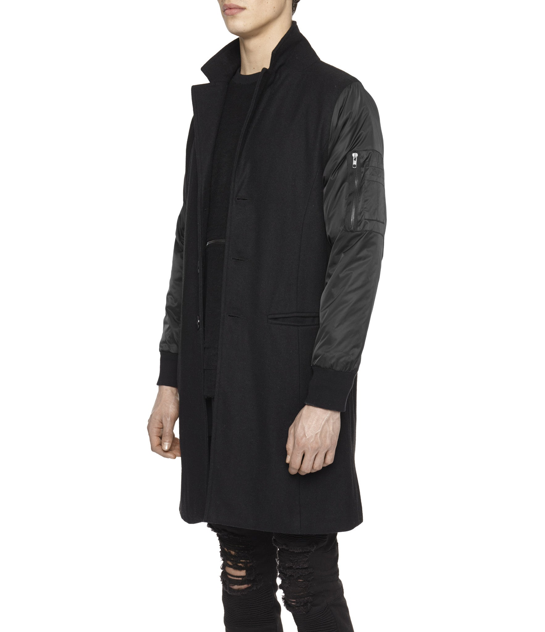 JK215 Hybrid Overcoat - Black - underated london - underatedco - 4