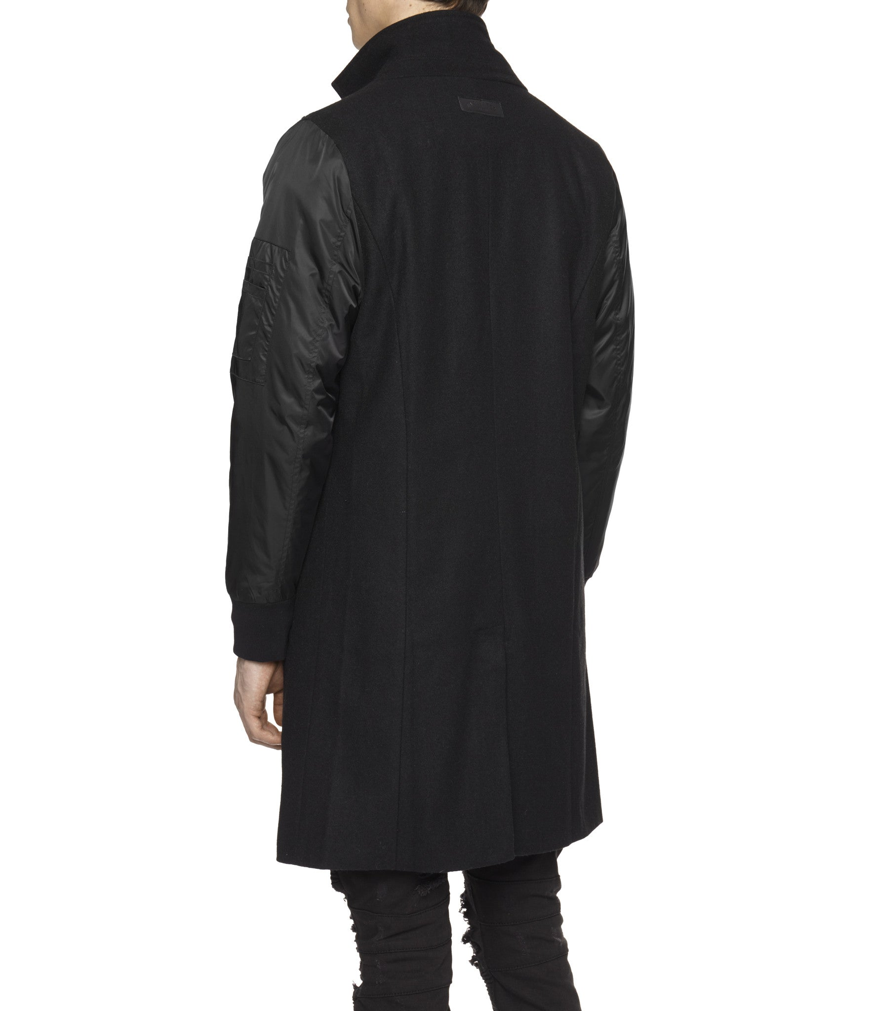 JK215 Hybrid Overcoat - Black - underated london - underatedco - 5
