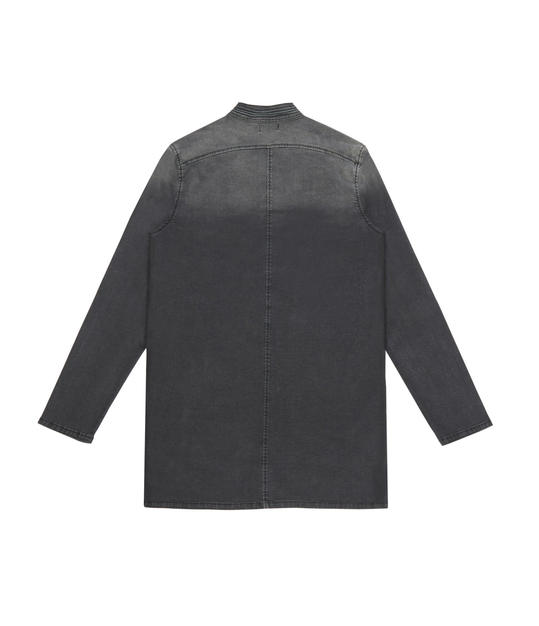 SH152 Stone Wash Denim Shirt - Black - underated london - underatedco - 2