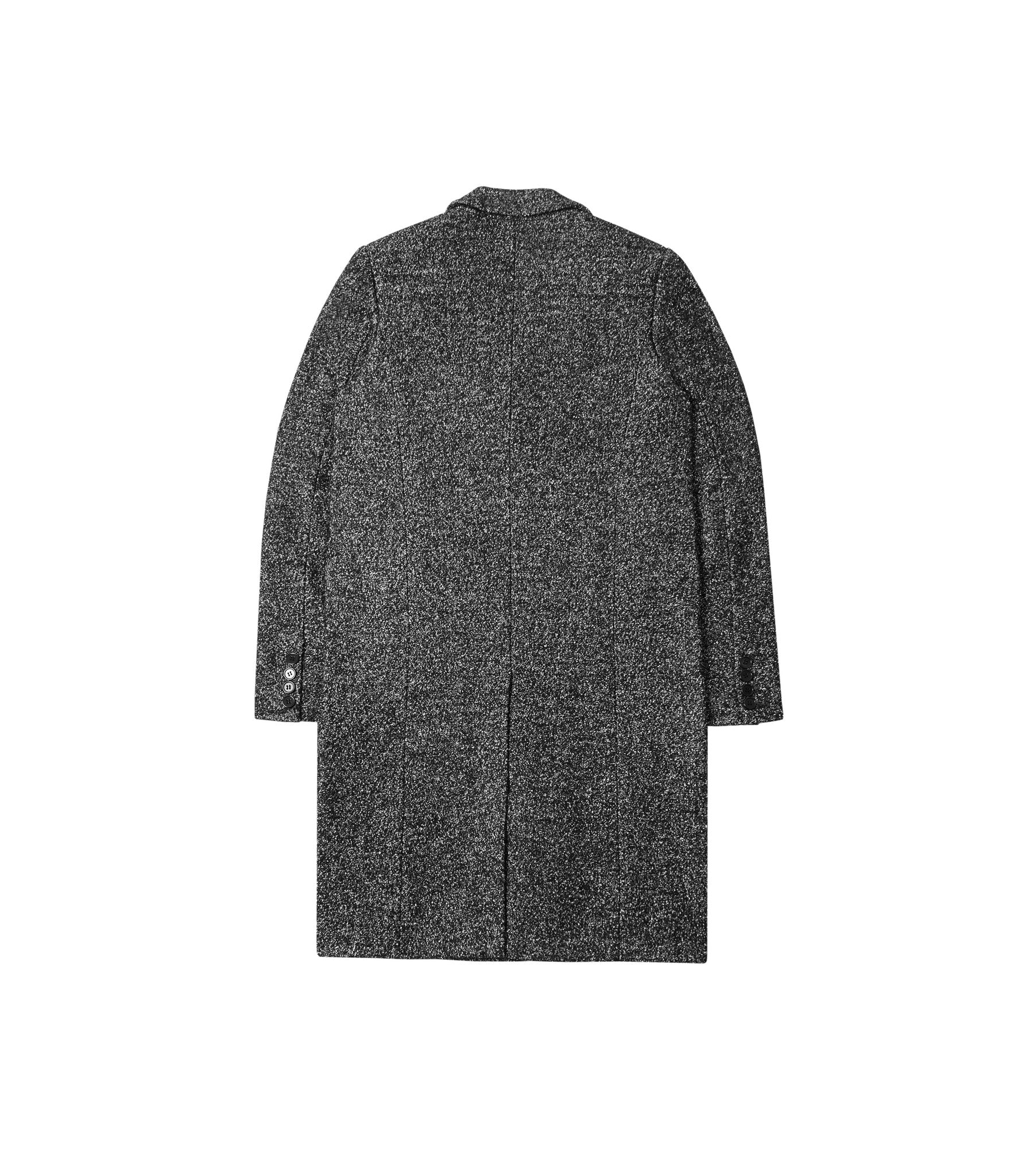 JK212 Mélange Wool Blend Overcoat - Black - underated london - underatedco - 3
