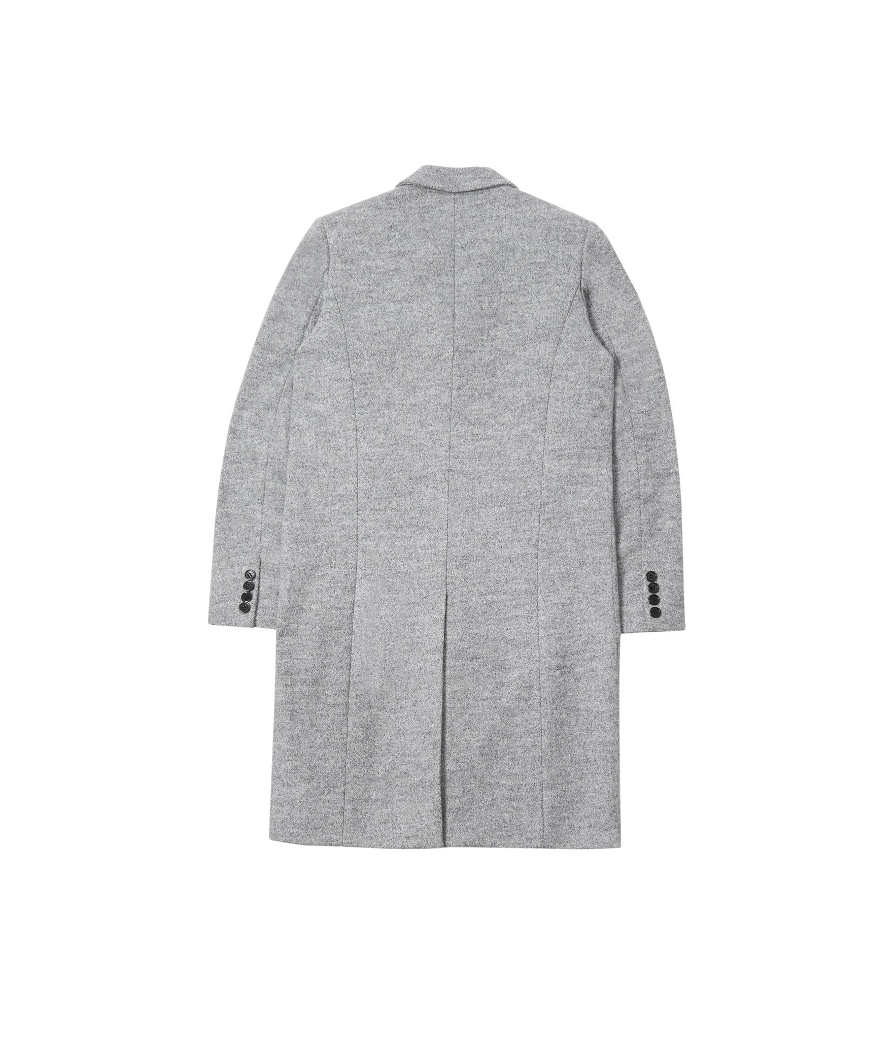 JK212 Mélange Wool Blend Overcoat - Grey - underated london - underatedco - 3