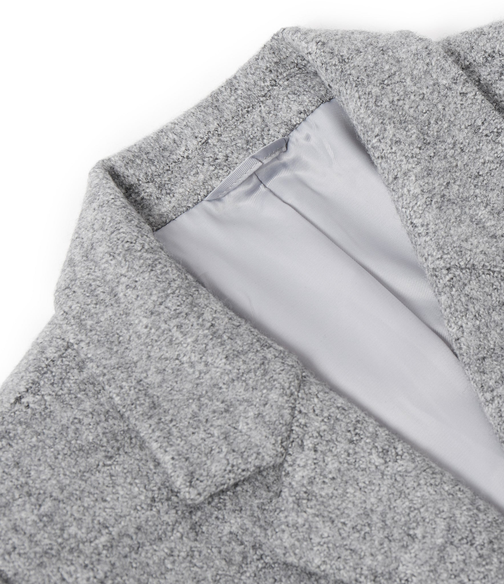 JK212 Mélange Wool Blend Overcoat - Grey - underated london - underatedco - 4