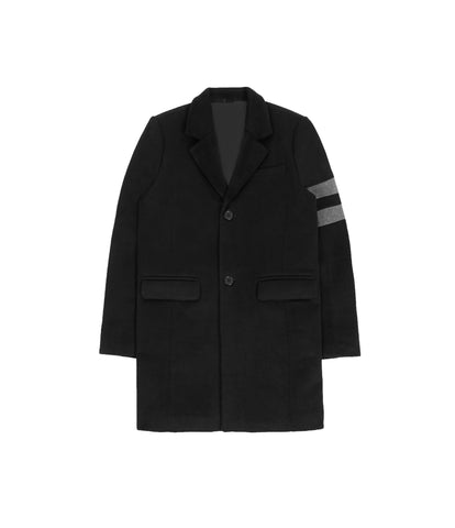 JK211 Wool Blend Overcoat - Black - underated london - underatedco - 1