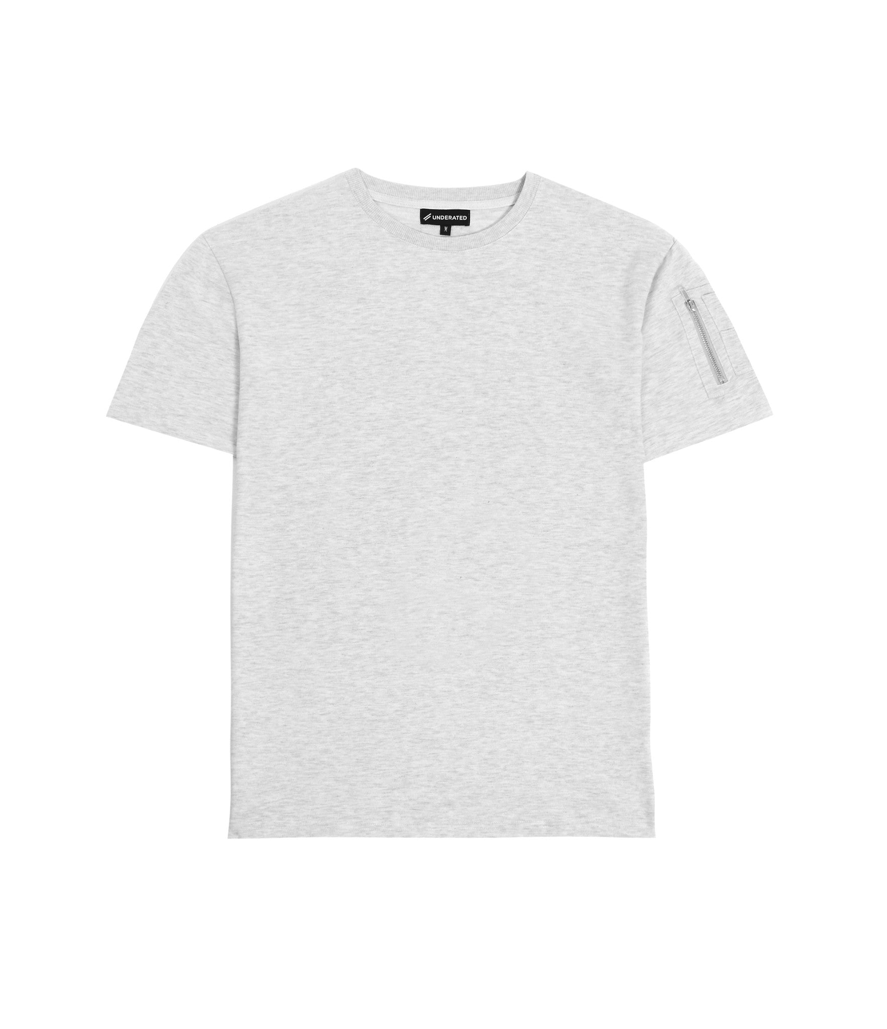 TS222 Drop Shoulder Utility Tee - Heather Grey - underated london - underatedco - 2