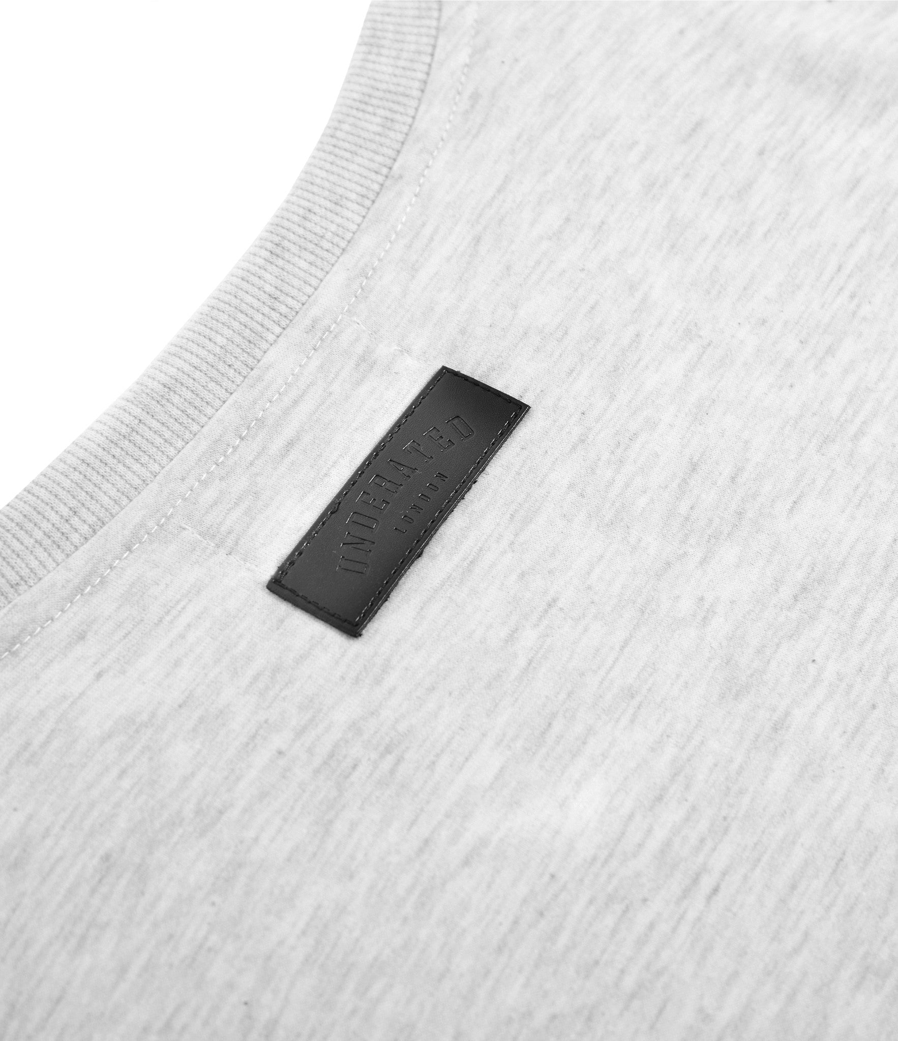 TS222 Drop Shoulder Utility Tee - Heather Grey - underated london - underatedco - 5